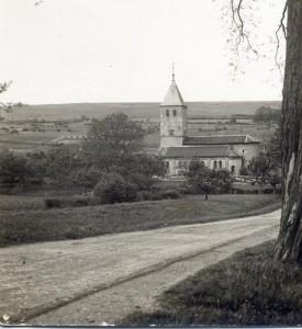 Côte et église de Lorry début 20e siècle