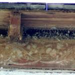 chapelle N.D. de la Salette - boiserie sous le toit