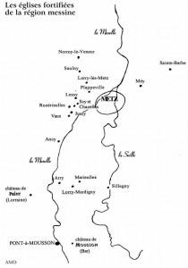 carte des églises fortifiées
