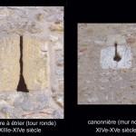 église Ste Croix - archère à étrier et canonnière
