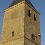 église Ste Croix - clocher, faces ouest et sud