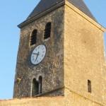 église Ste Croix - clocher, faces nord et ouest