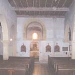 église Ste Croix - int. nef principale et base du clocher