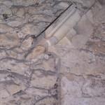 église Ste Croix - combles, détail ancien pignon