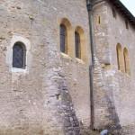 église Ste Croix - mur nord, contreforts