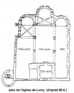 église Ste-Croix - plan