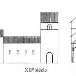 église Ste Croix - reconstitution 12e siècle