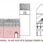 église Ste Croix - reconstitution 13e siècle