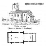 église St Laurent - 1849 dessin et plan