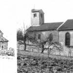église St Laurent - comparaison 19e siècle et aujourd'hui